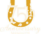 Royal Carriages 75th Anniversary logo